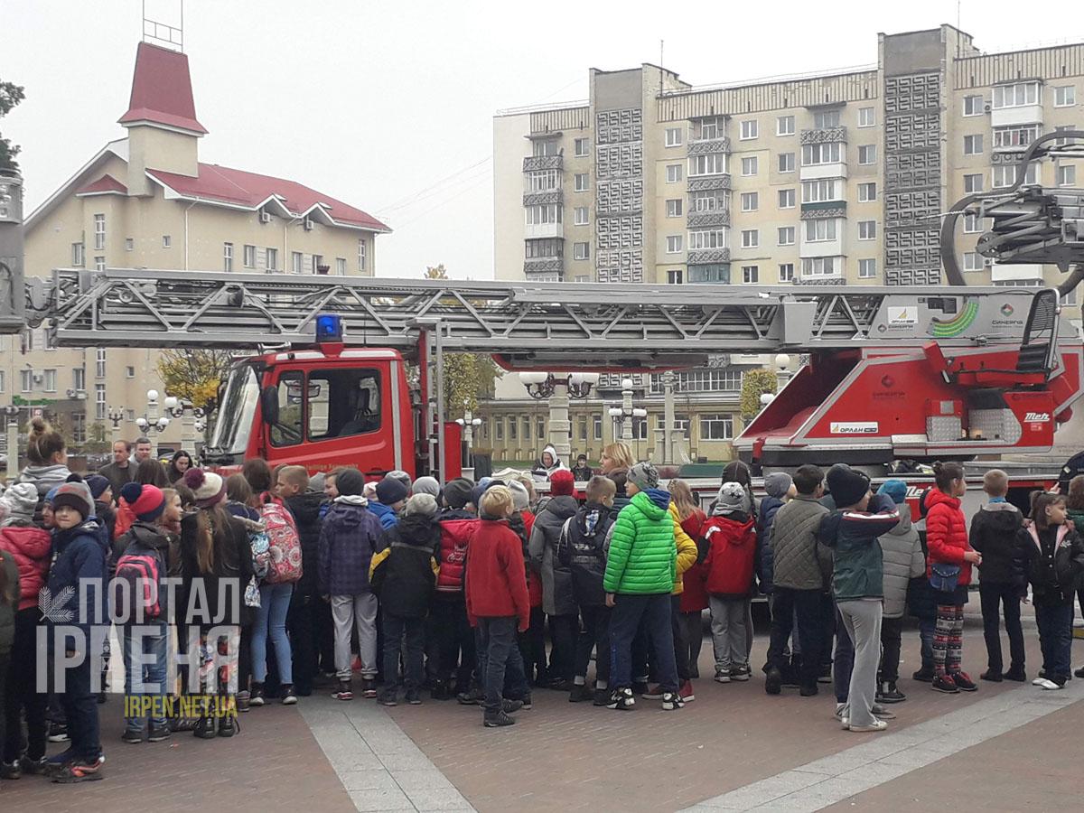 Пожарная машина в Ирпене