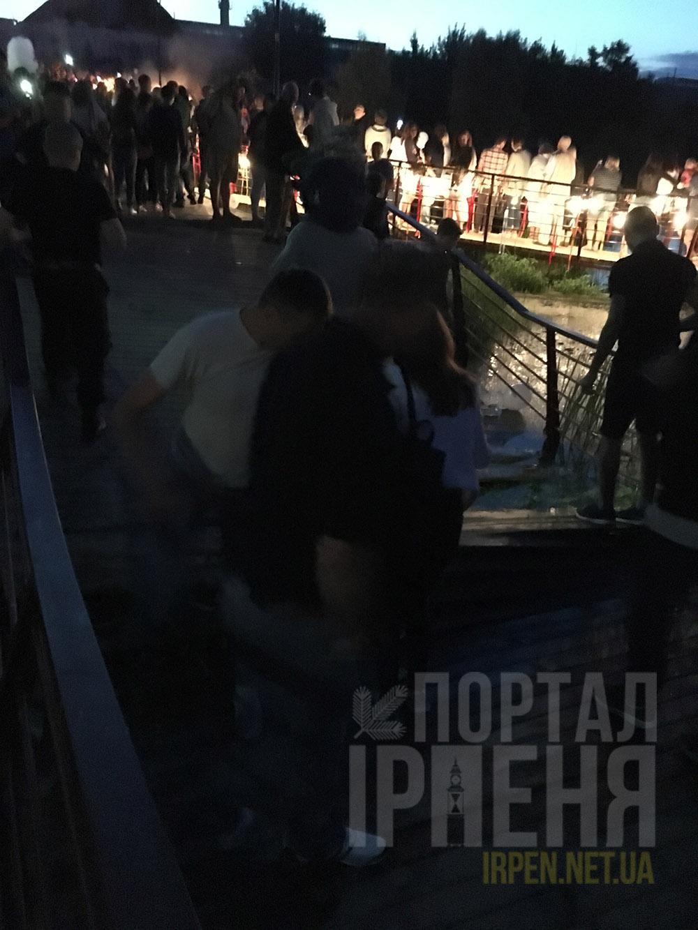 В Ирпене сломался мост