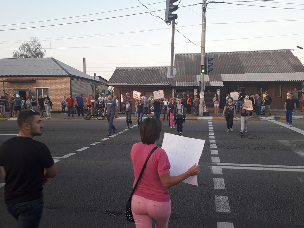 Митинг в Романовке