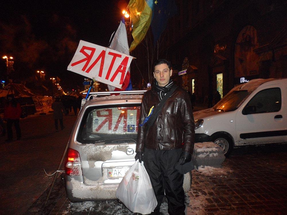 Хафизов на митинге 2014