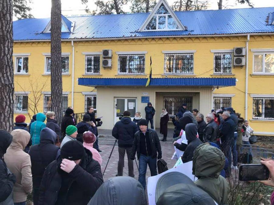Мітинг проти забудови заплави р.Ірпінь. Фото С.Гліняний