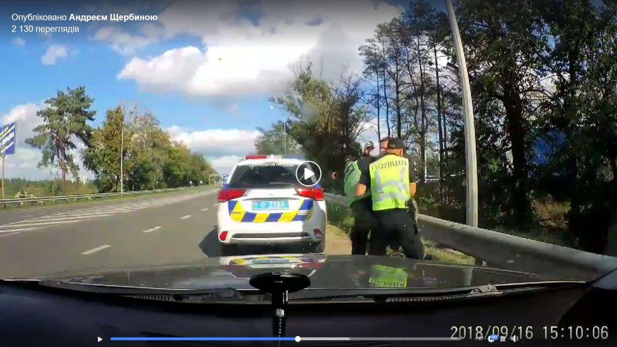 В Приирпенье полицейский напал на журналиста Авто Евро Силы